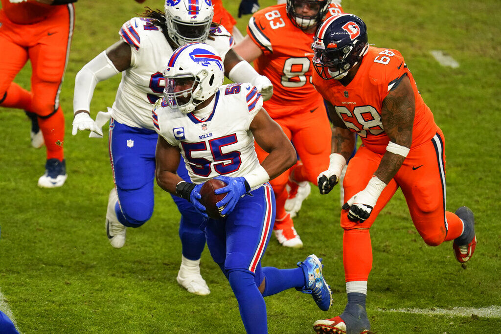 Bills' Jerry Hughes relies on 'running back instincts' to score ...