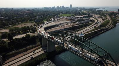 Huge backups at border due to Canadian customs work slowdown