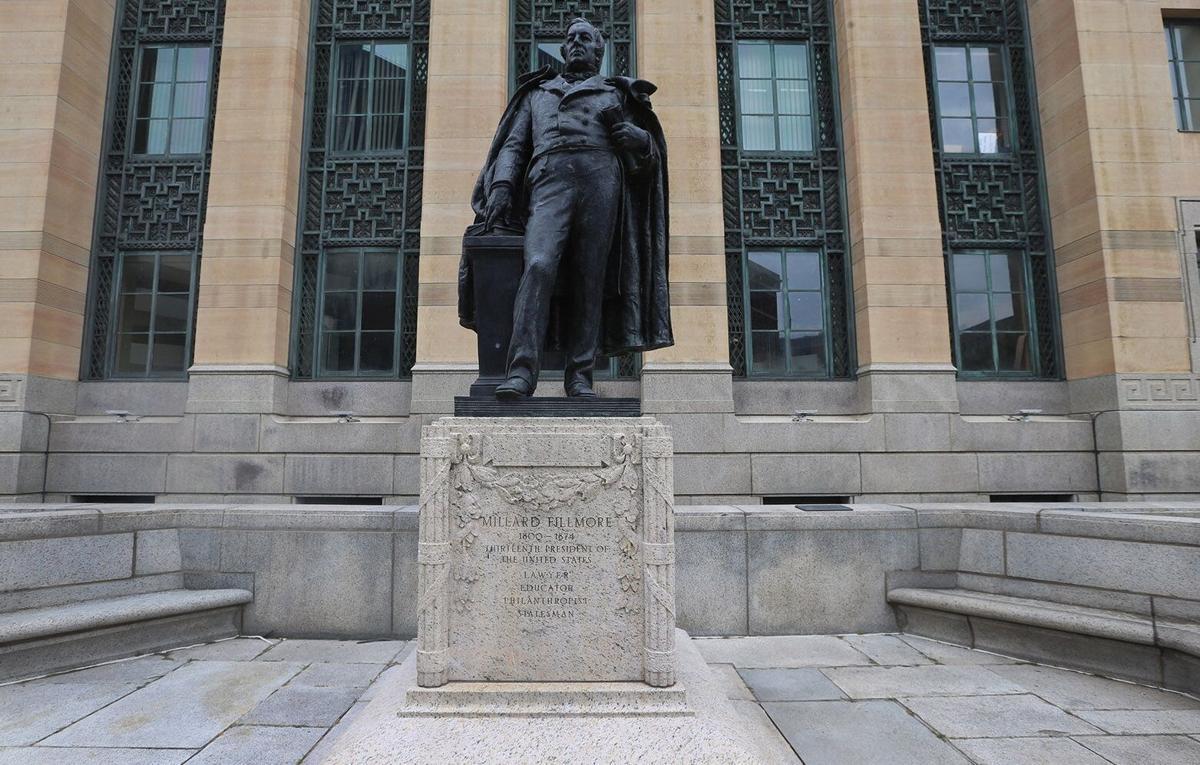 Millard Fillmore statue at City Hall