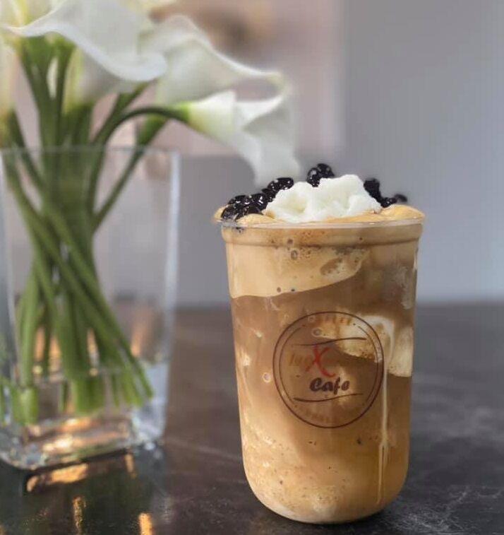 Teaxpresso coconut coffee frappe
