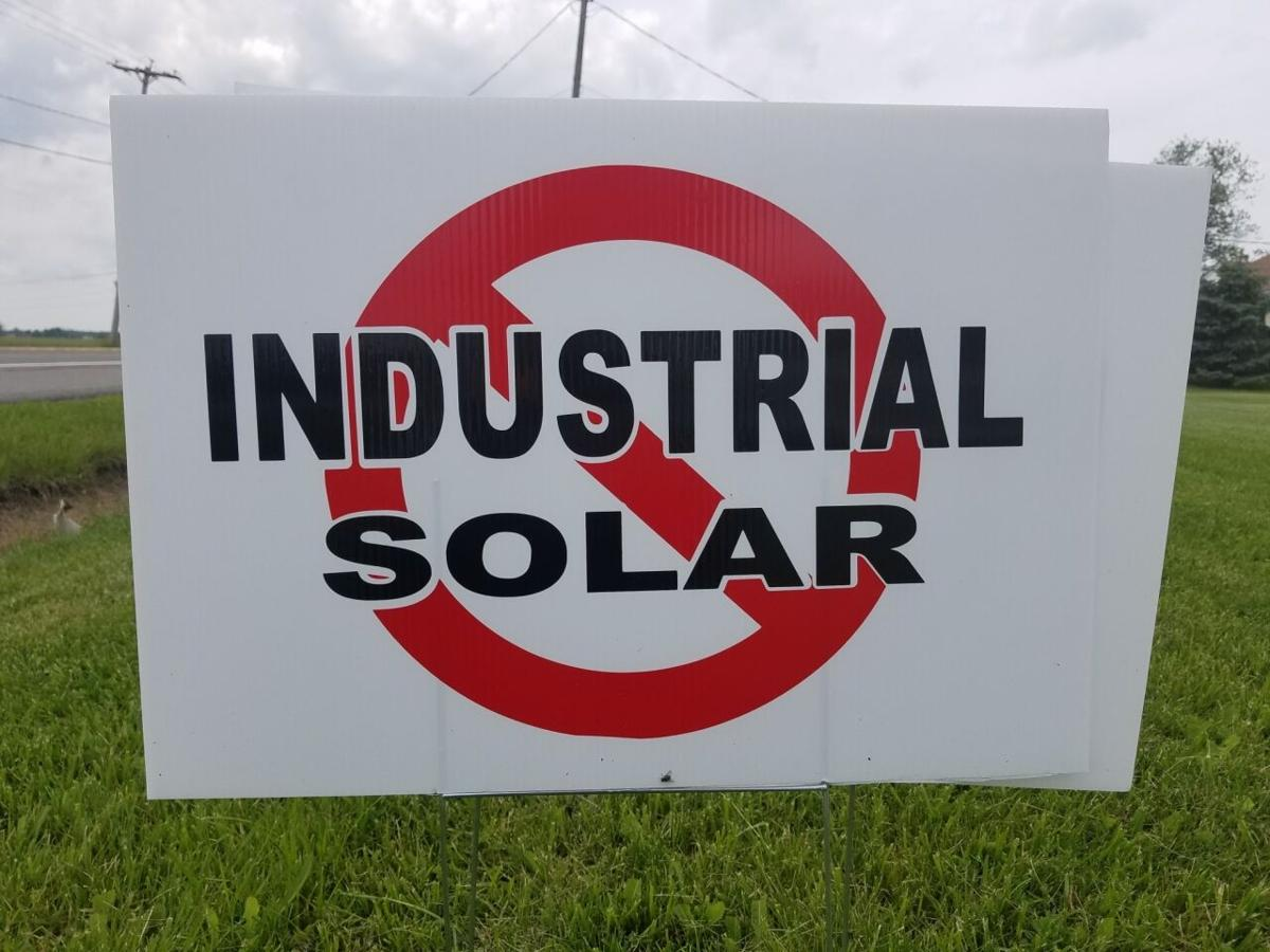 Solar yard sign Cambria