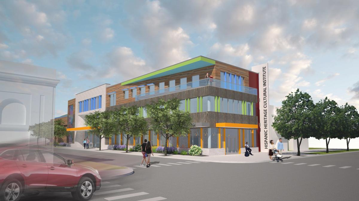 A rendering of the proposed Hispanic Heritage Cultural Institute at Niagara and Hudson Streets