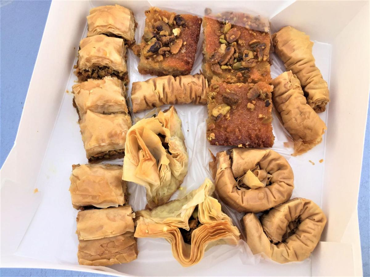 eight dollars worth of fresh arabic sweets