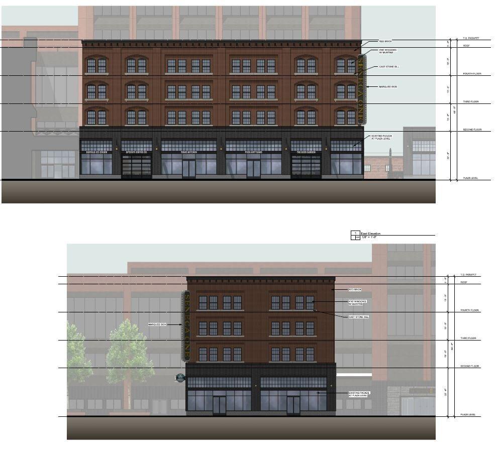 Seneca One retail building rendering