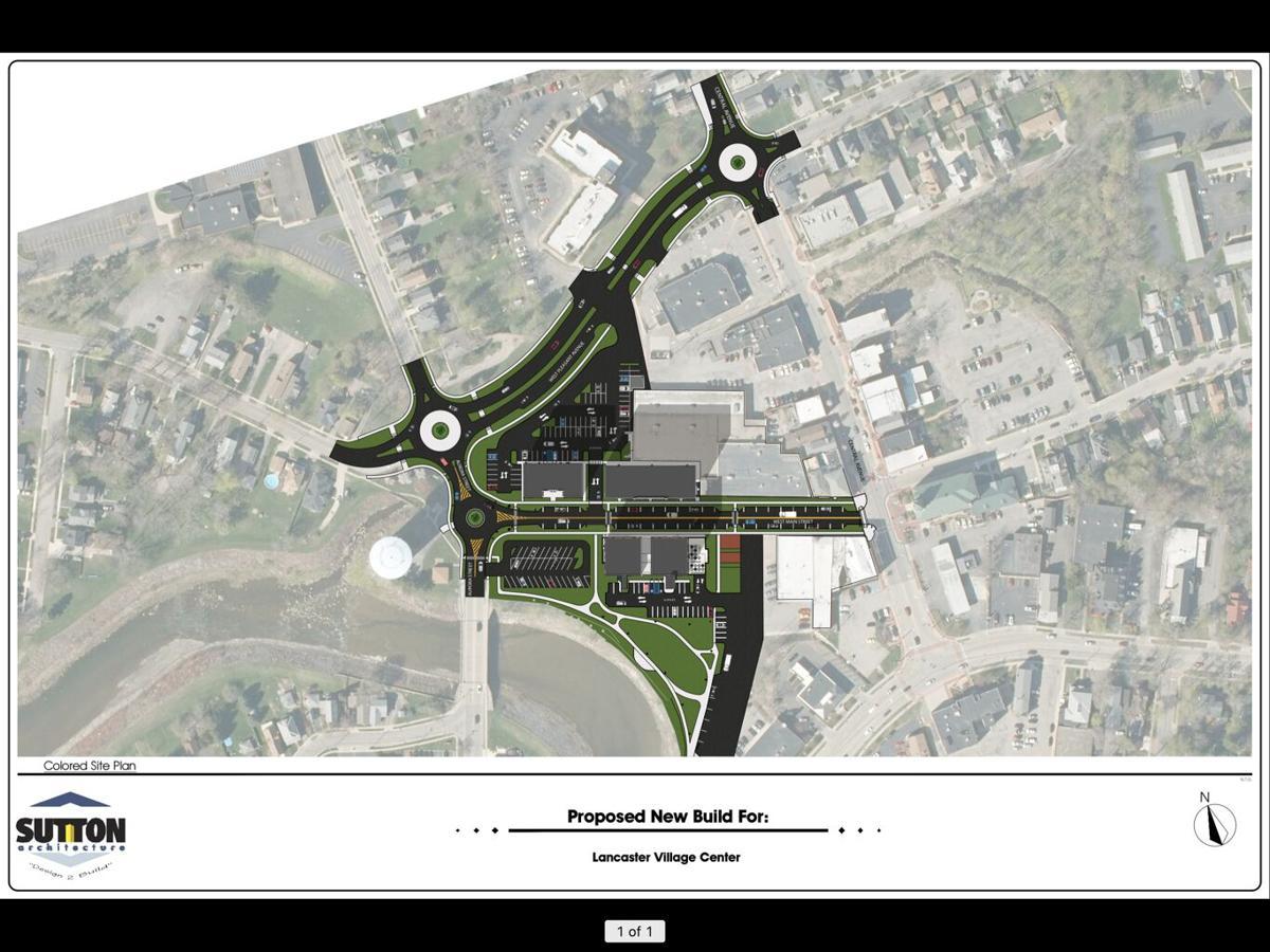 Lancaster Village Center site plan