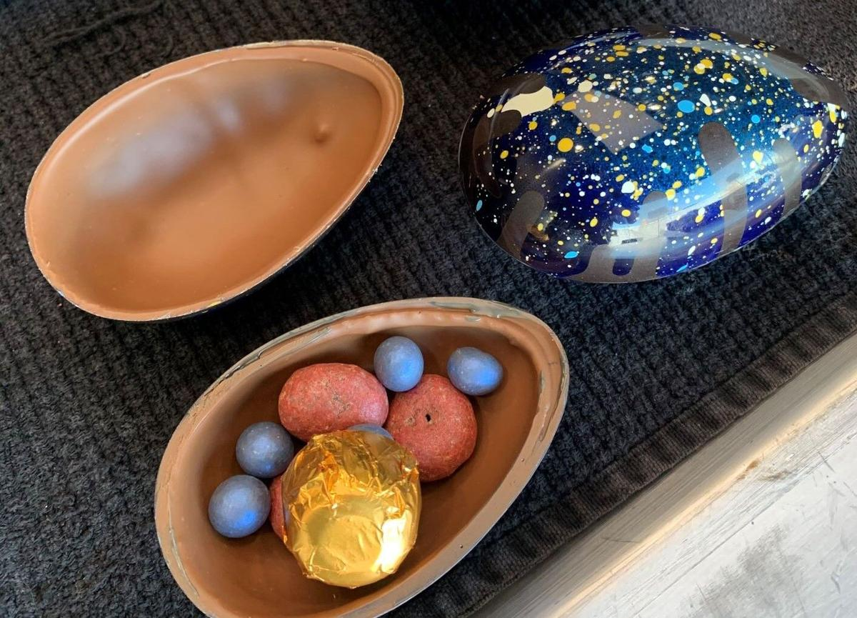 Blue Table Chocolates Easter egg filling
