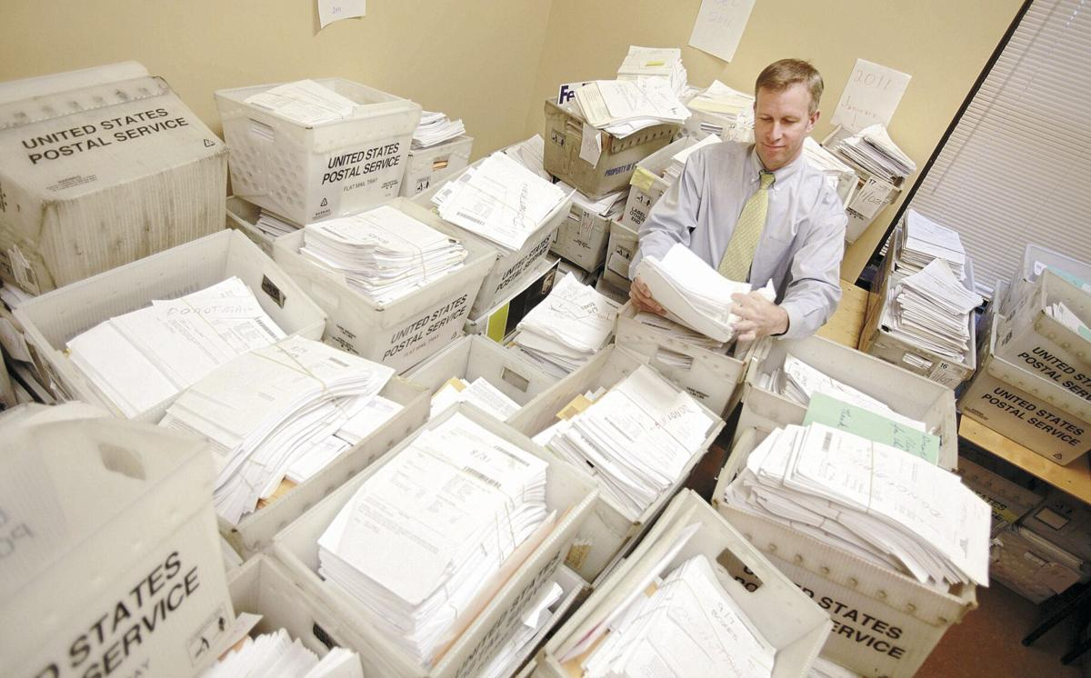 Chris Jacobs with backlog at Erie County Clerk's Office