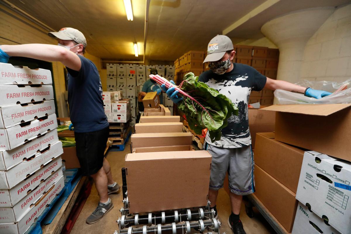 Packing organic boxes at FreshFix