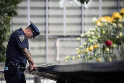 16th Annual Commemoration Ceremony Held At WTC Site For 9/11 Terror Victims