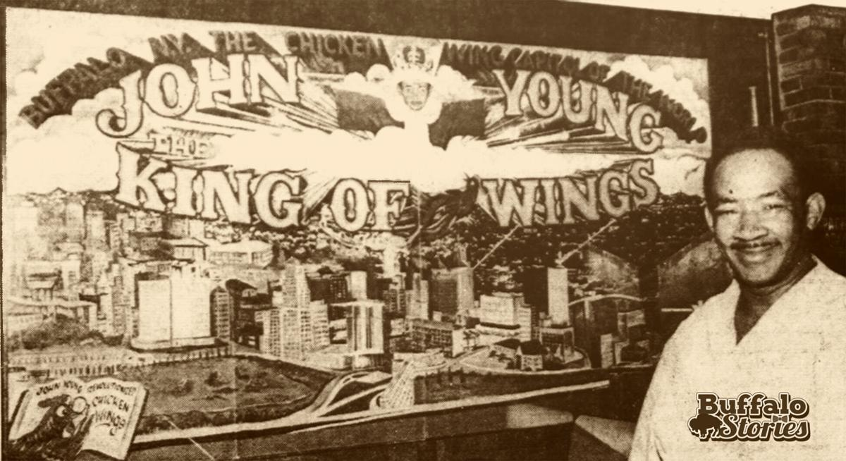 John Young Wing King with mural 1981