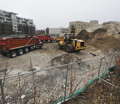 Gates Circle dirt pile  HICKEY