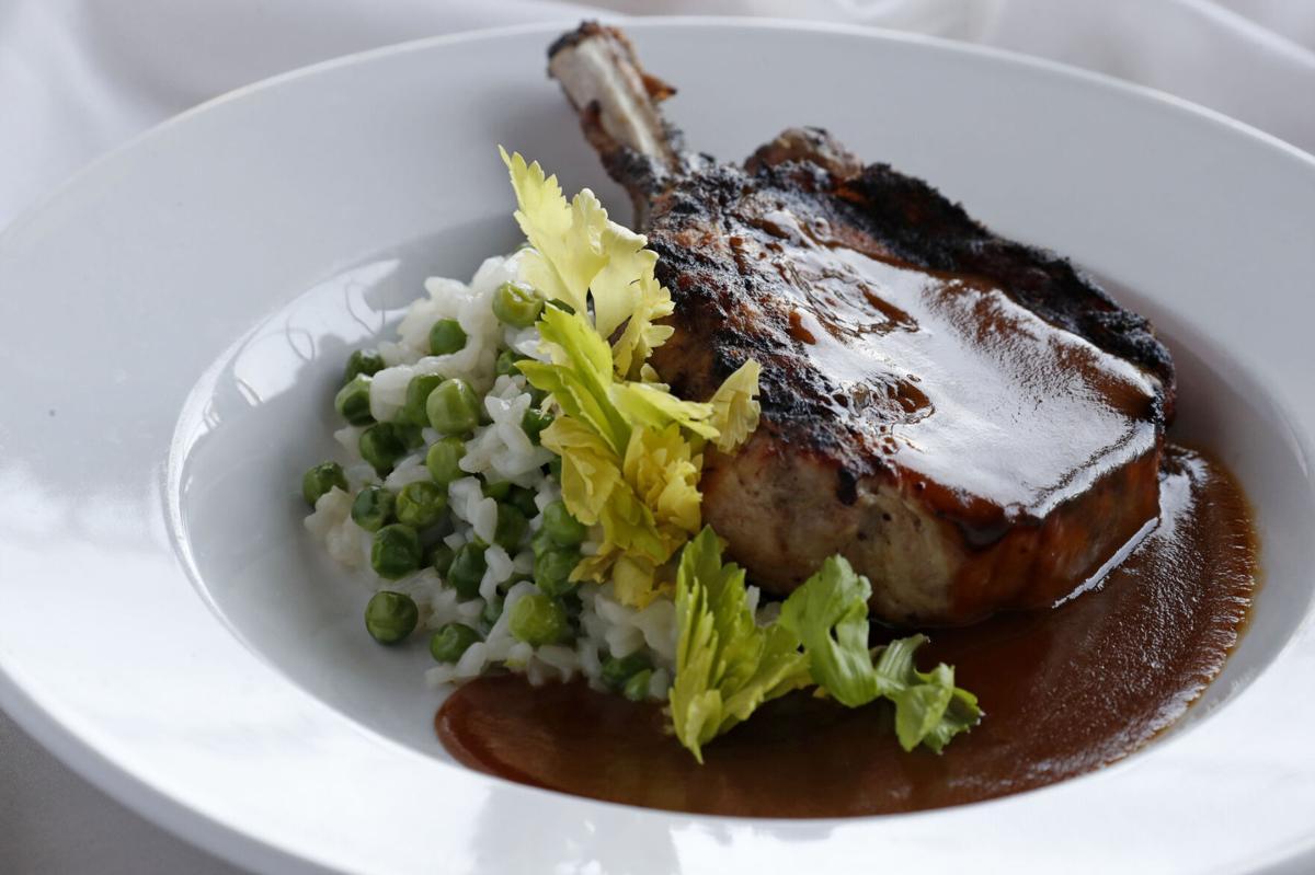 Bone-in pork chop at 800 Maple