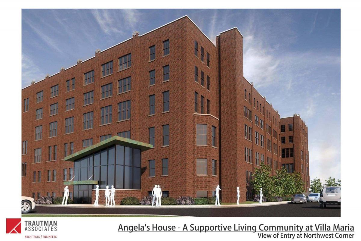 Angela's House rendering for the Villa Maria Academy project