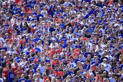 Buffalo Bills fans in stadium