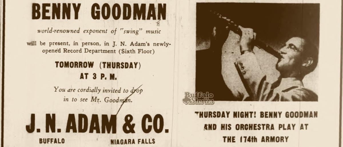 Benny Goodman visited Buffalo twice in 1938.