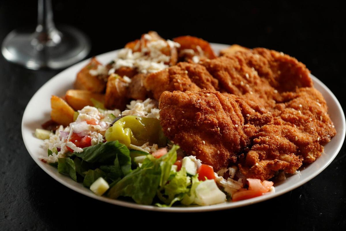 Israeli-style chicken schnitzel at Falafel Bar