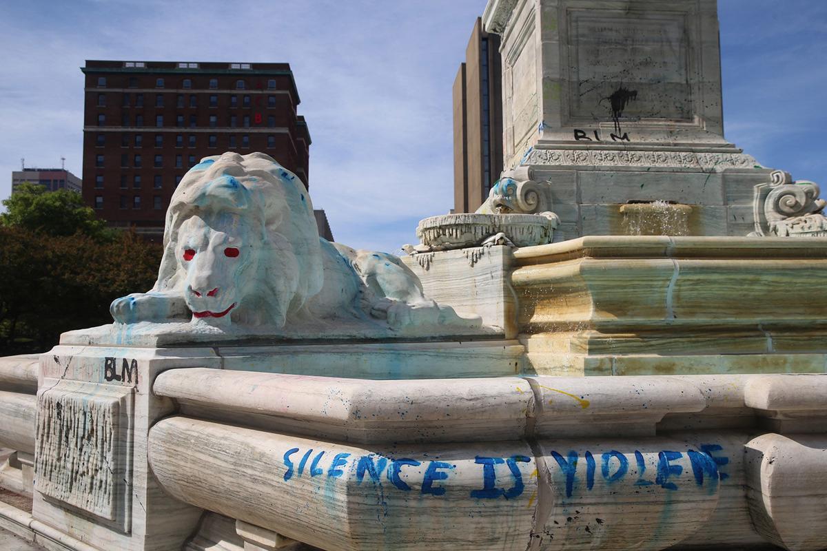 McKinley Monument damage