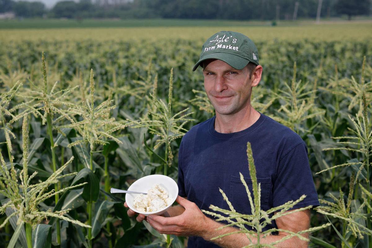 Farmer Matthew Agle Is outstanding in his field - ice cream