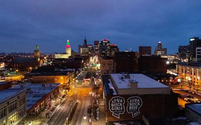 Buffalo Skyline from Edward Street
