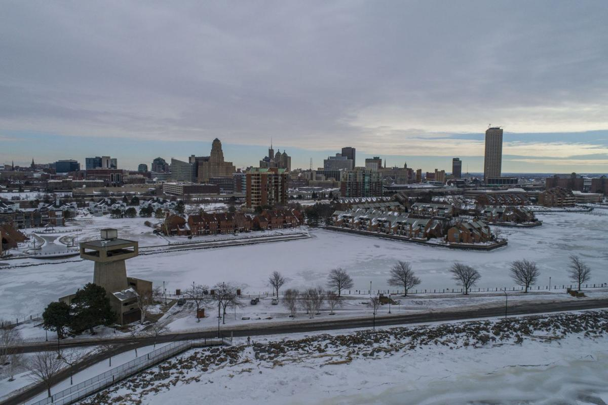 LOCAL ERIE ICE AERIAL GEE winter snow