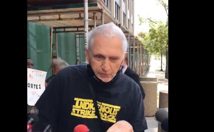 Martin Gugino  at protest