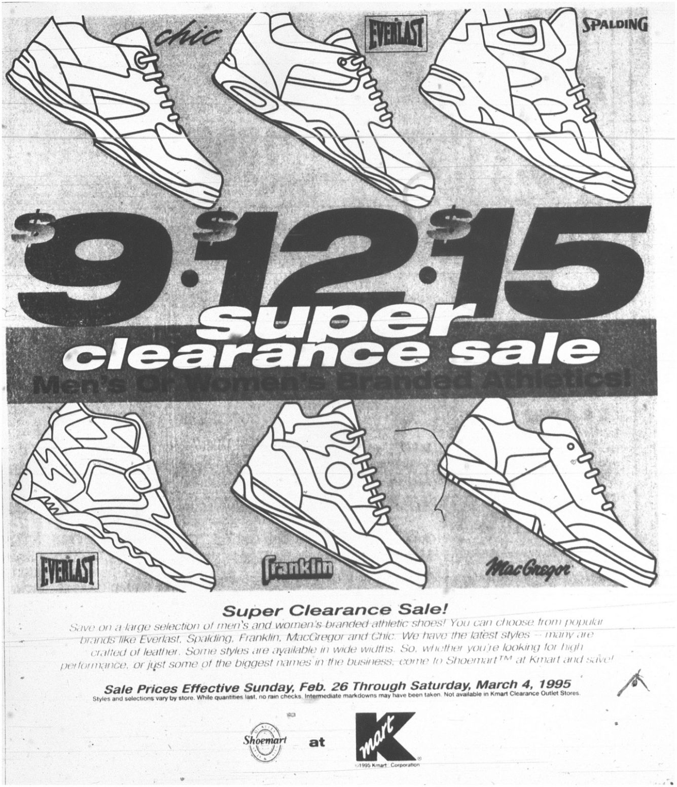 K-Mart ad compiles every sneaker brand