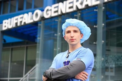 Kyle Brown- COVID-19-pandemic-Buffalo General Medical Center-Scull