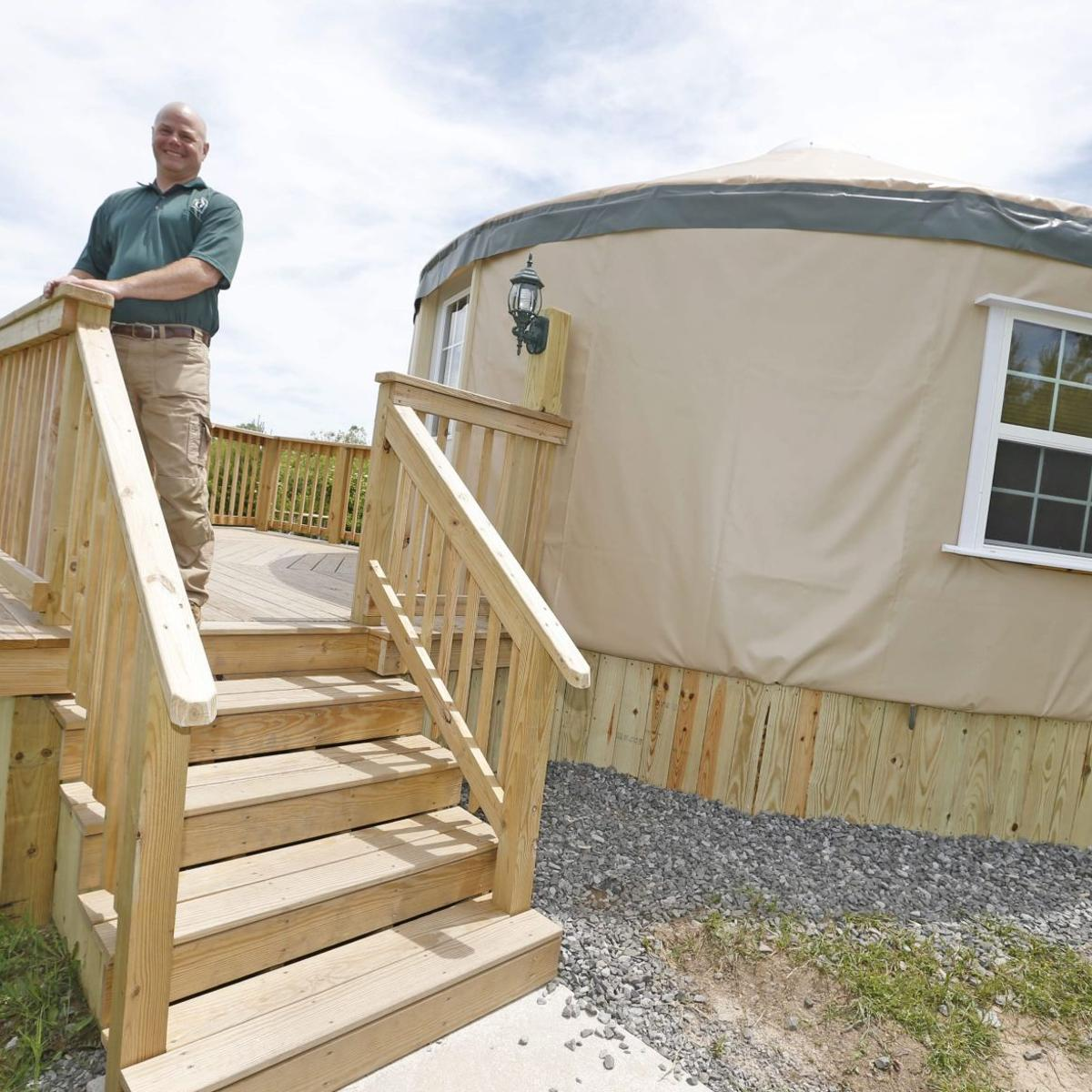 Parks New Yurts Offer A Camping Experience In The Round Local News Buffalonews Com Enjoy days set alongside a stunning lake, head to fantastic seafood restaurants along the coast and. parks new yurts offer a camping