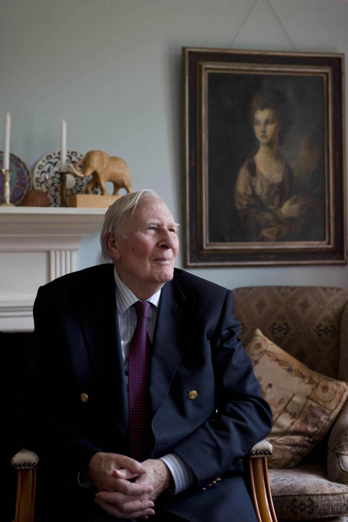 Roger Bannister at his home in Oxford, England.