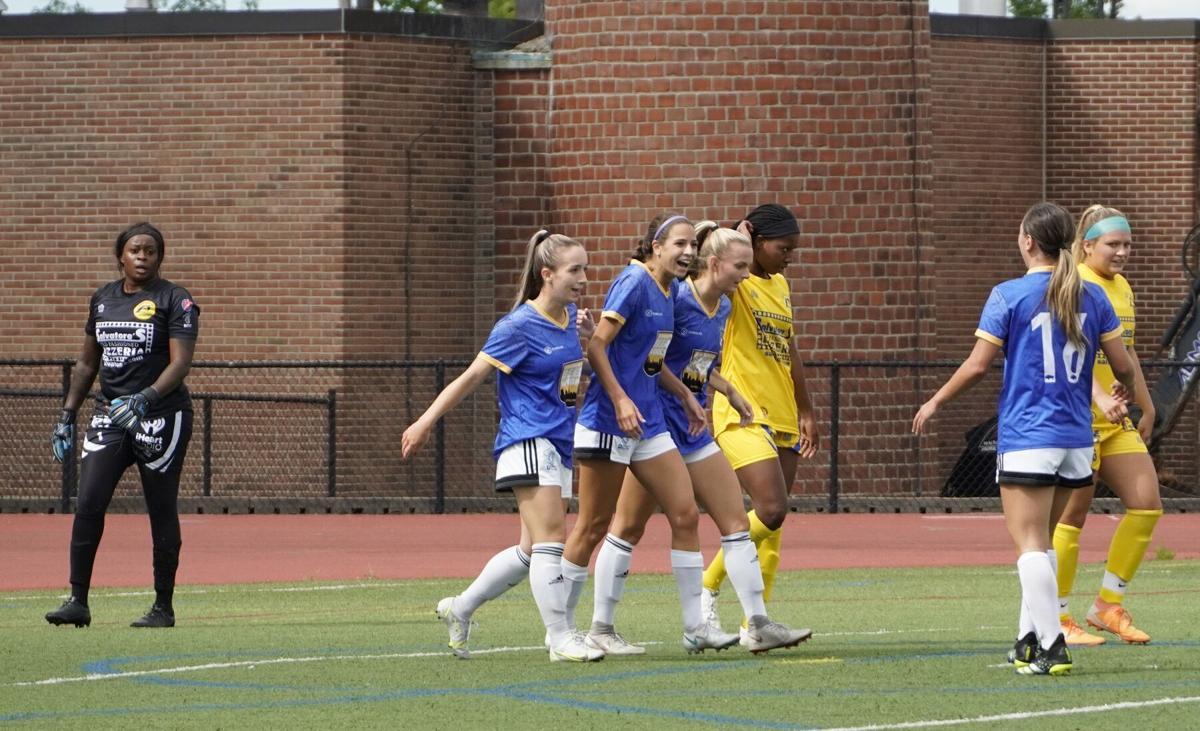 FC Buffalo Women celebrate use