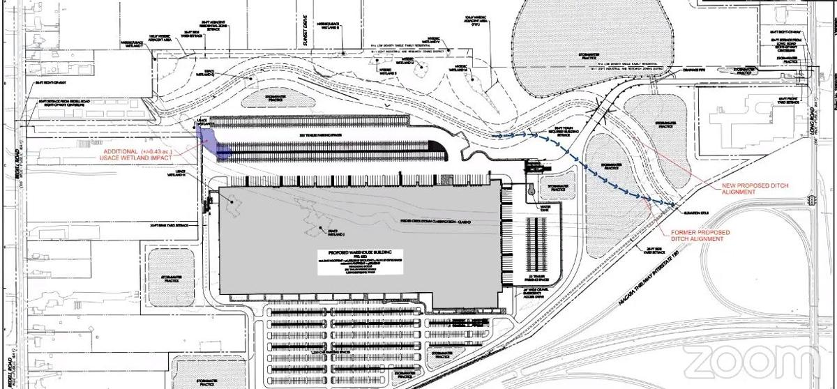 Acquest Grand Island warehouse site plan