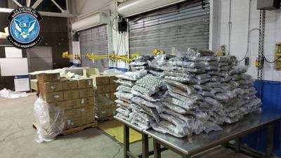 More than 900 pounds of marijuana seized at border