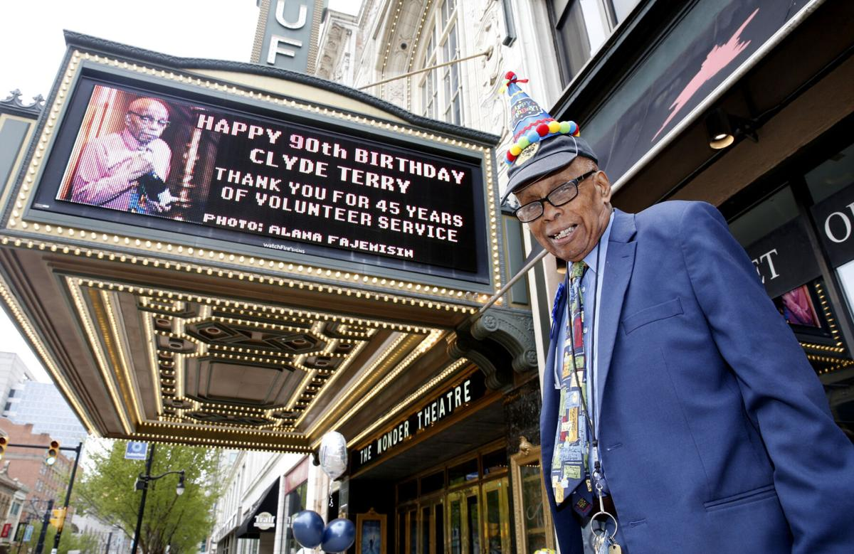 Clyde Terry on the Shea's marquee