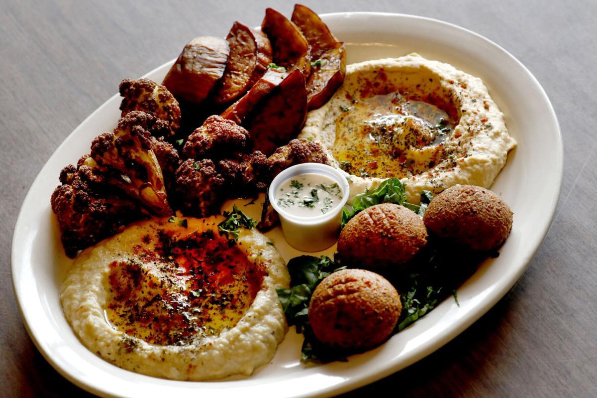 Vegan platter at 755 Restaurant in Niagara Falls