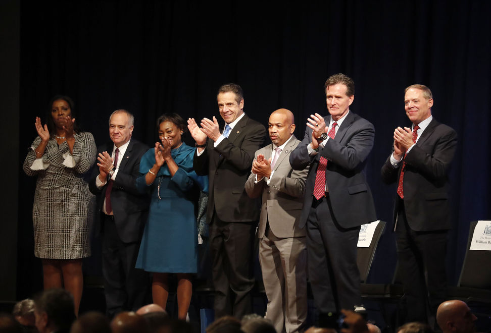 State-of-the-State-Letitia-James-Thomas-DiNapoli-Andrea-Stewart-Cousins-Andrew-Cuomo-Carl-Heastie-John-Flanagan-William-Barclay-Mulville