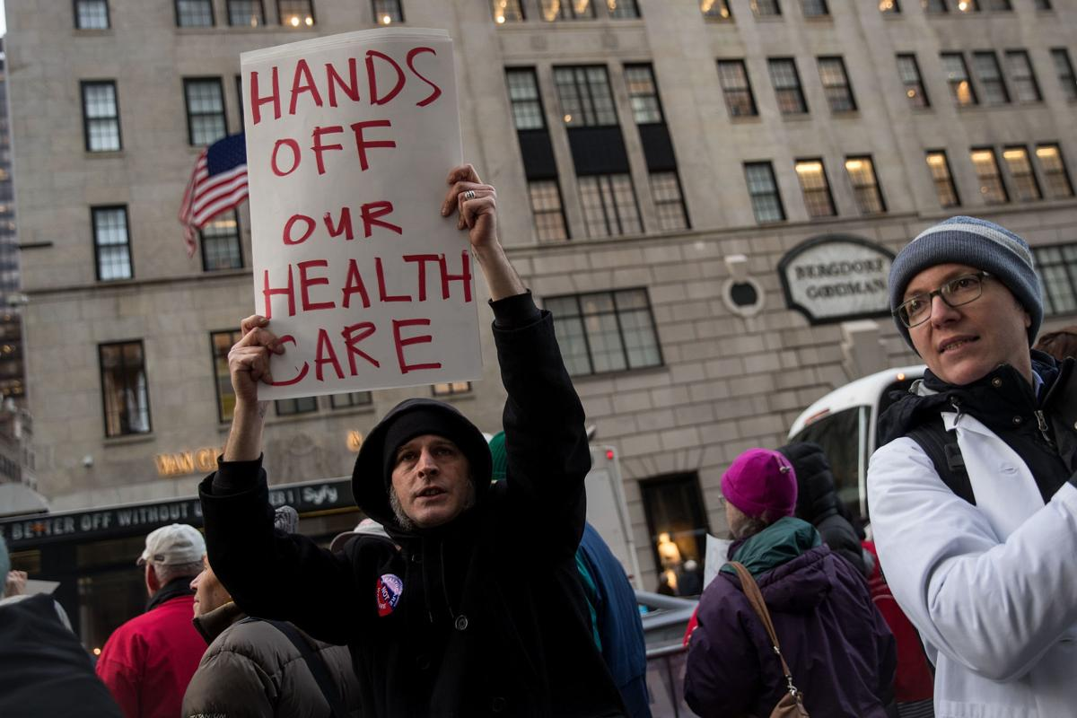 Health Care Activists Rally In Support Of Improved Medicare At Trump Tower