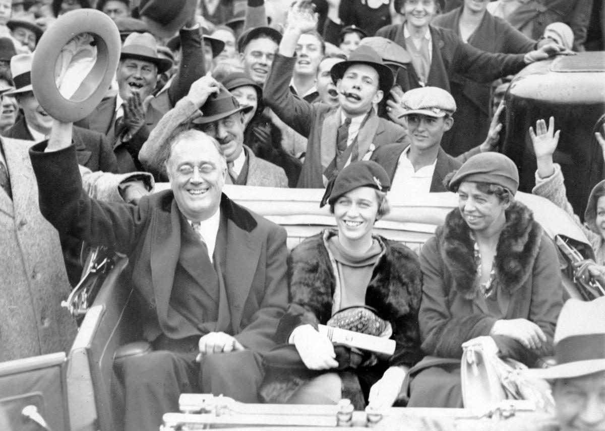 1932: Franklin Delano Roosevelt wins the presidency (copy)