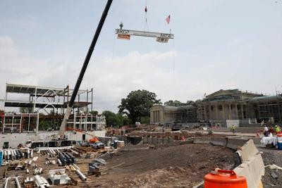 At Albright-Knox, steel frame for expansion is in place: 'This is a remarkable moment'