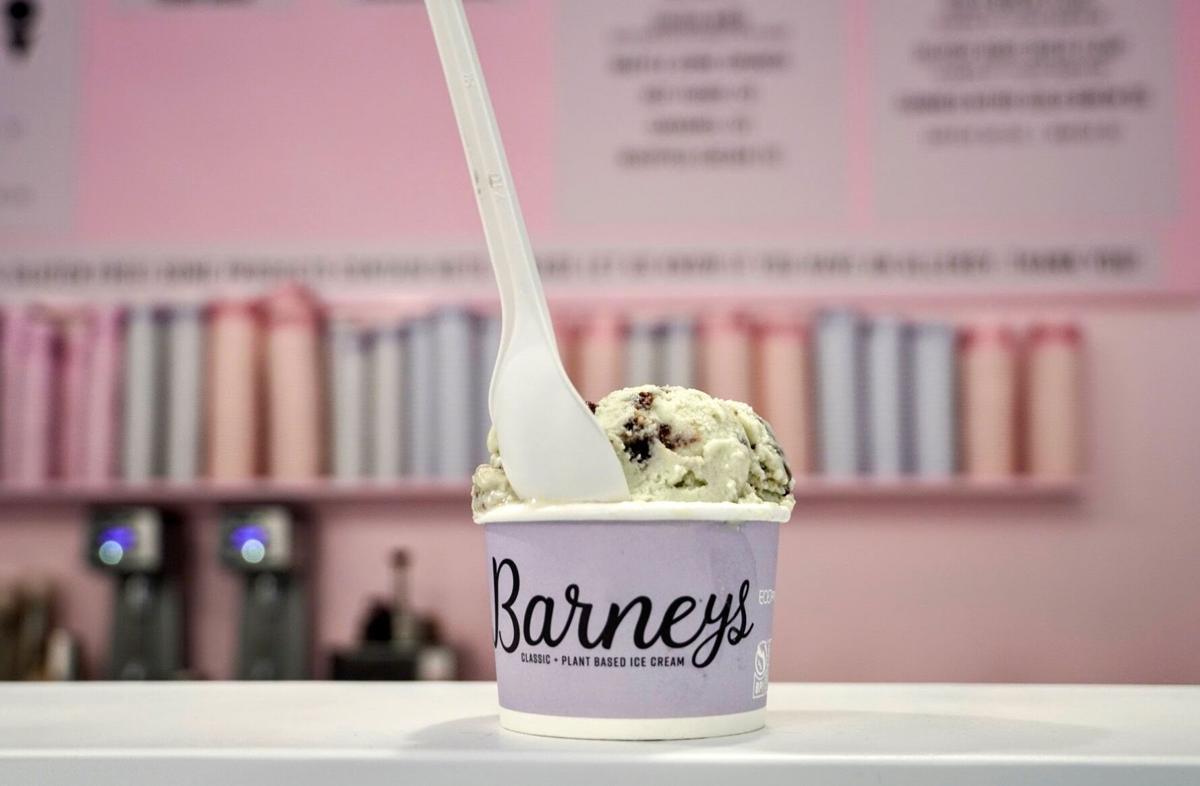 Mint fudge crunch plant-based ice cream Barney's