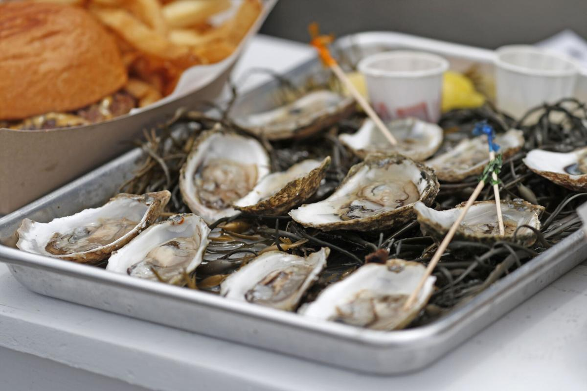 Freshly opened oysters at Shuck Shack