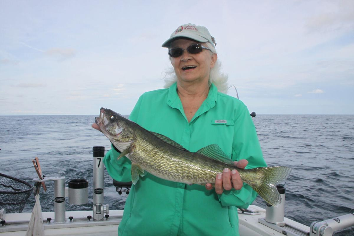 Sue Guenther walleye Lake Erie