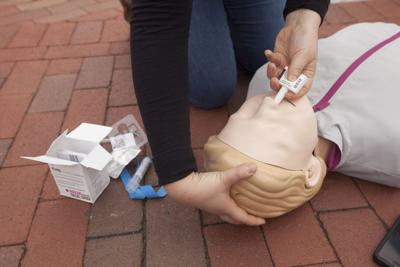 A dummy used to simulate treatment for overdoses, in Cambridge, Mass. (copy)