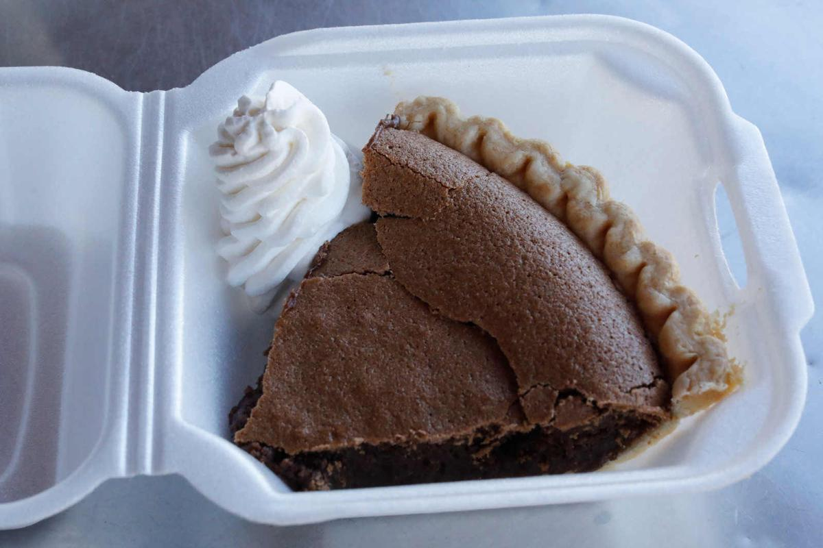 Chocolate chess pie at BiscuitLife