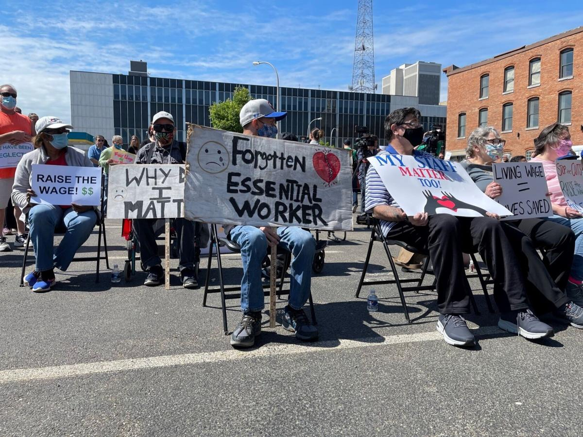 Disability Services Agencies Protest Cuts