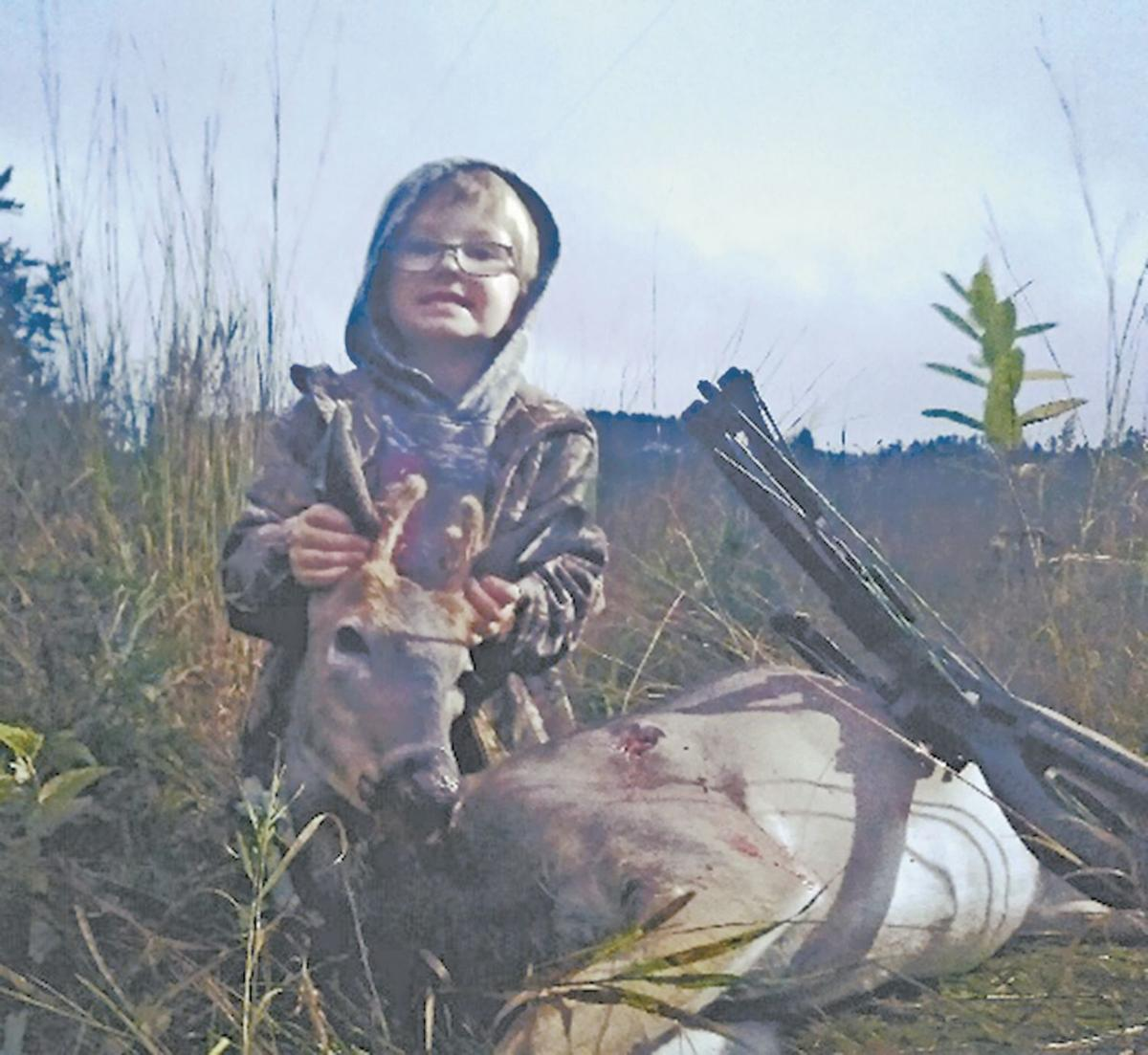Not your ordinary kindergartener gets first buck