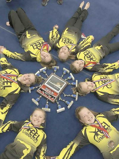 Xcel Gymnasts are D2 State champions