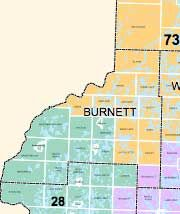 How would Burnett County fair in redistricting?