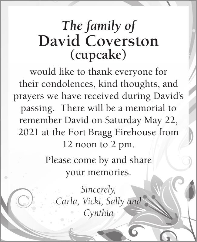 The family of David Coverston (cupcake)