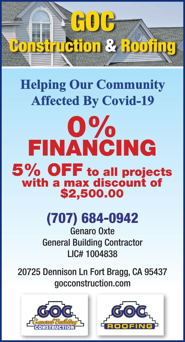 GOC Construction & Roofing Helping Our