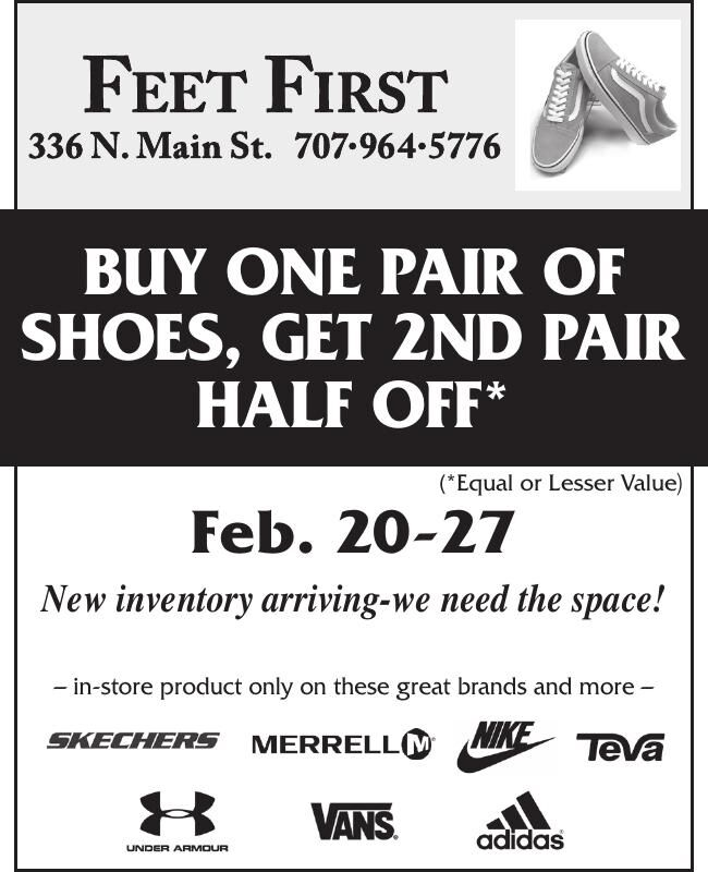 BUY ONE PAIR OF SHOES, GET 2ND PAIR